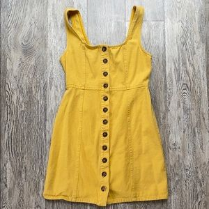 Tilly's Yellow Denim Dress